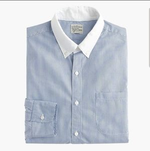 J.Crew Mens Slim Secret Wash White Collar Shirt